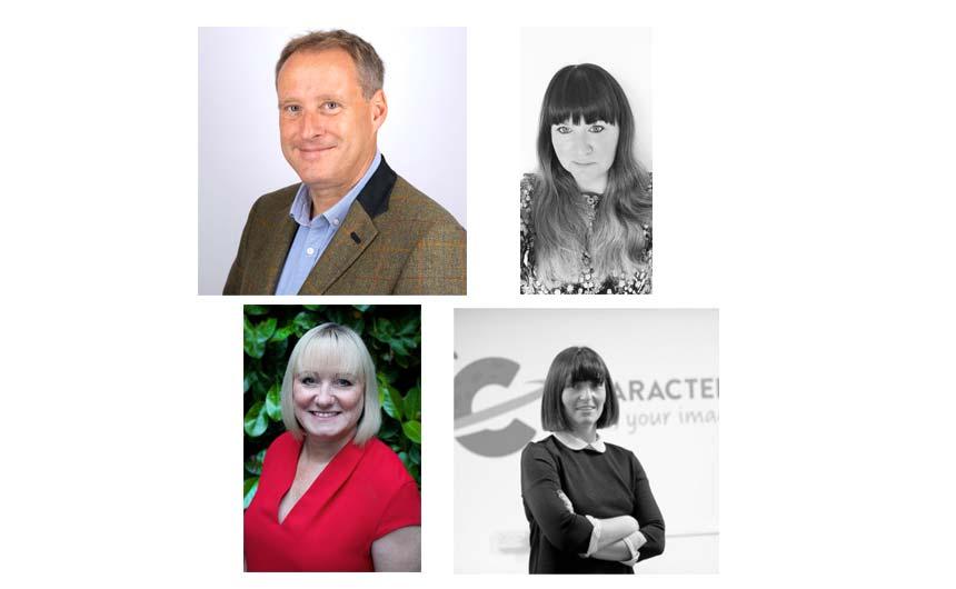 Retail speakers will include (clockwise from top left): Paul Earnshaw, Tesco; Jade Snart, Asda; Karen Hewitt, Character.com; and Julia Redman, BuyersEye.